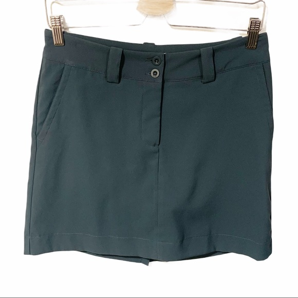 Nike Golf Womens Grey Athletic Skort Skirt 2